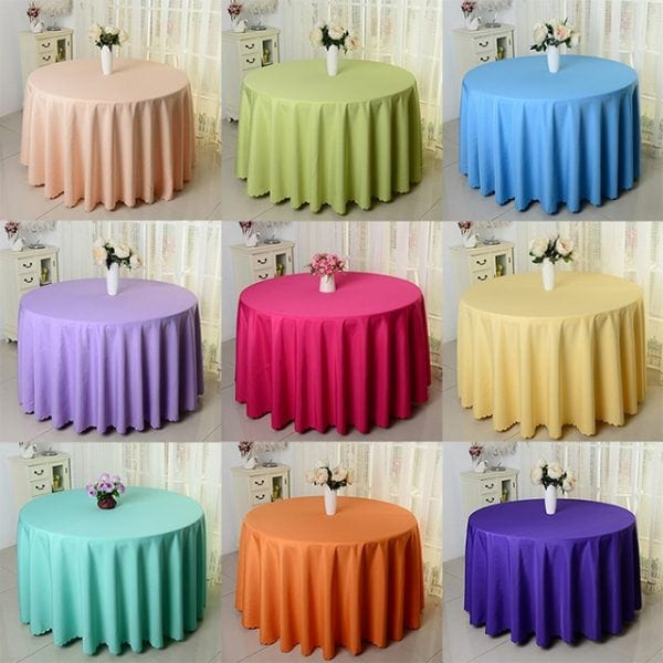120 inch Polyester Fabric Table Cloth