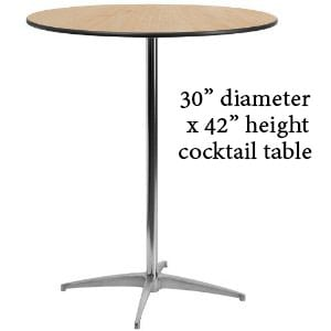 30″ Cocktail Table