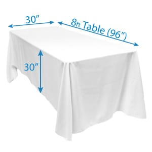 Polyester Table Cloth 90 inch x 156 inch