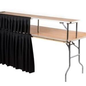 Portable Bar Table With Skirt