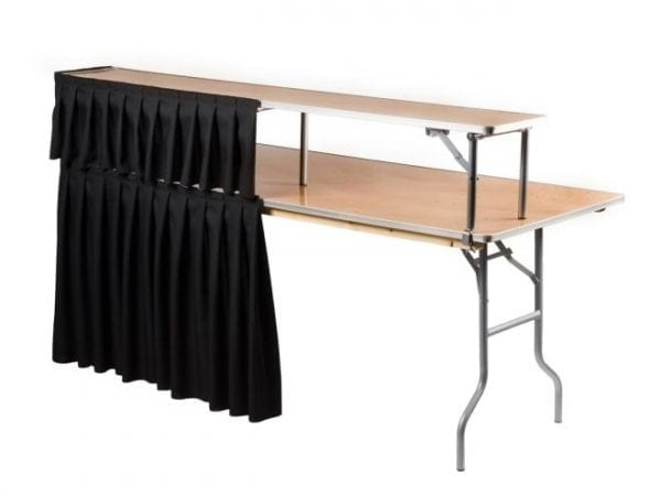 Portable Bar table with skirt