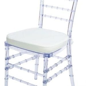 Chiaviari Chair Clear W/ Cushion.